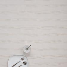 SALE Linnen tafelzeil lines creme 150x140cm wasbaar