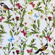 55x140cm Restje tafelzeil vogels en vlinders