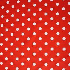 SALE Mexicaans tafelzeil rood met witte stippen 130x120cm