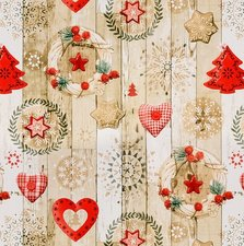 Rond kerst tafelzeil kerstkransen (140cm)