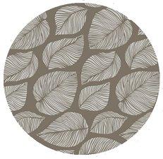 Rond tafelzeil hazel bladeren taupe (140cm)