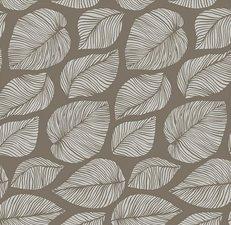 Tafelzeil hazel bladeren taupe