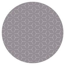 Rond tafelzeil geometrisch donkergrijs (140cm)