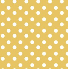 Ovaal tafelzeil stippen geel