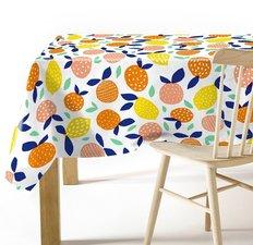 Rond tafelzeil citrusfruit (140cm)