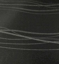 40x140cm Restje linnen tafelzeil lines zwart (wasbaar)