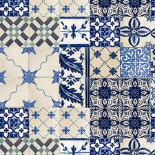Tafelzeil Oud Mediterrane tegeltjes blauw