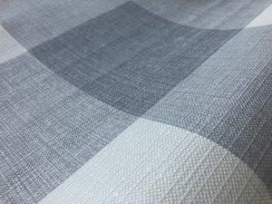 30x140cm Restje tafelzeil geblokt grijstinten