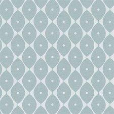 40x140cm Restje tafelzeil abstracte ovaaltjes blauw
