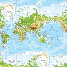 Wasbaar tafelzeil Atlas Wereldkaart