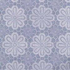 Ovaal tafelzeil vintage bloemen blauw