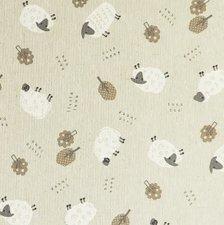 SALE linnen tafelzeil schapen 130x140cm (wasbaar)