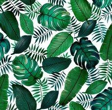 50x140cm Restje tafelzeil palmbladeren Java