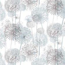 60x140cm Restje tafelzeil bloempluisjes  grijs/ taupe