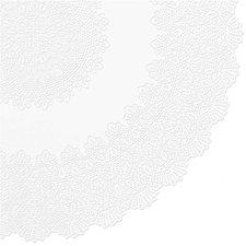 Rond tafelkleed buiten vinyl wit 180cm
