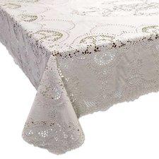 Tafelkleed buiten vinyl crochet ivoor 137x180cm