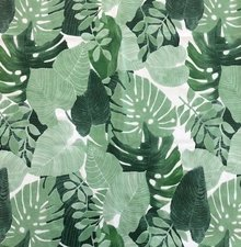 50x140cm Restje tafelzeil palmbladeren botanic