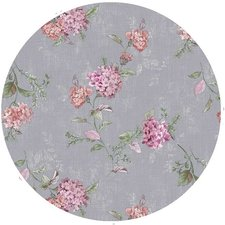 Rond tafelzeil romantische bloem grijs (140cm)