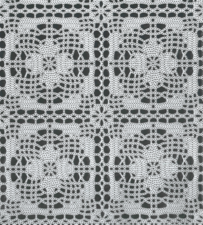 75x140cm Restje tafelzeil kant wit gehaakt patroon