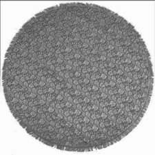 Rond buiten tafelkleed 160cm schuimvinyl antraciet grijs (dikke kwaliteit)