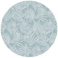 Groot rond tafelzeil bamboe zeeblauw (160cm)