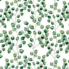 Groot rond tafelzeil blaadjes groen (160cm)