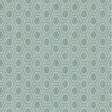 55x140cm Restje tafelzeil honingraat groen/grijs