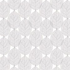 Ovaal tafelzeil leafs abstract grijs