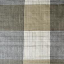 55x140cm Restje linnen tafelzeil geblokt wit/grijs/bruin (wasbaar)