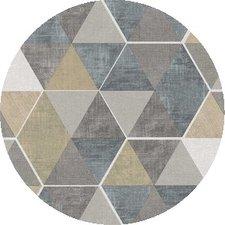Rond tafelzeil abstracte honingraat (137cm)