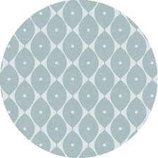 Rond tafelzeil abstracte ovaaltjes blauw (140cm)
