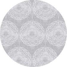 Rond tafelzeil brocanterie grijs (ca. 137cm)