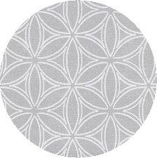 Rond tafelzeil Orbit zilver/grijs(137cm)