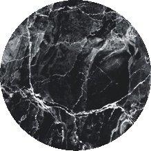 Rond tafelzeil marmer zwart (140 cm)