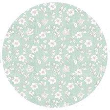 Rond tafelzeil daisy groen (ca. 140cm)