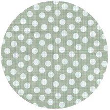 Groot rond tafelzeil polkadot stippen groen (160cm)