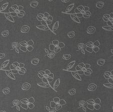 SALE linnen tafelzeil flower grijs 140x140cm wasbaar