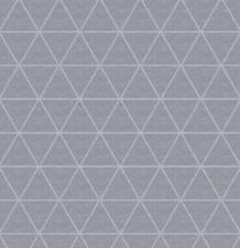 SALE Linnen tafelzeil triangle grijs 145x140cm (wasbaar)