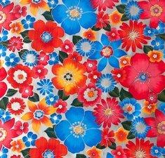 Mexicaans tafelzeil rain of flowers zilver