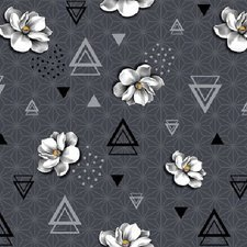 35x140cm Restje tafelzeil geometrische bloem