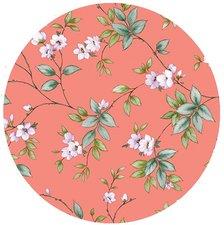 Rond tafelzeil koraal bloemen (140cm)