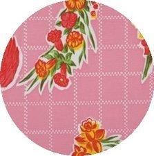SALE Rond tafelzeil rosendal roze 120cm