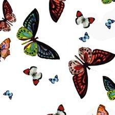 SALE doorzichtig tafelzeil vlinders 115x140cm