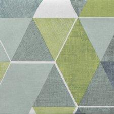 Ovaal tafelzeil abstracte honingraat groen