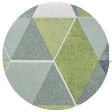 Rond tafelzeil abstracte honingraat groen (140cm)