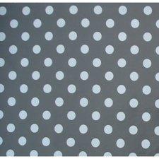 40x140cm Restje tafelzeil donkergrijs met witte stippen
