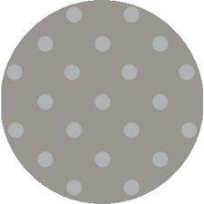 SALE Rond tafelzeil stippen lichtgrijs/beige Paty 140cm
