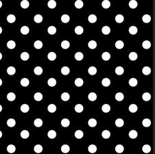 SALE tafelzeil polkadot stippen zwart 105x140cm