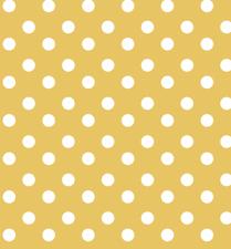 SALE tafelzeil stippen geel 135x140cm