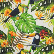 SALE linnen tafelzeil Toekan tropisch 200x140cm (wasbaar)